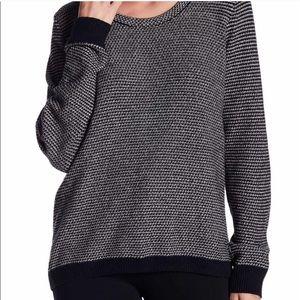Madewell Riverside Pullover Sweater Black + White